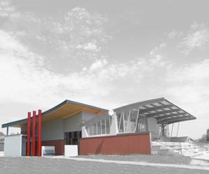 Vestiaires de Foot à Reignier | Architectes: Nelly GUYOT et Isabelle POULAIN |