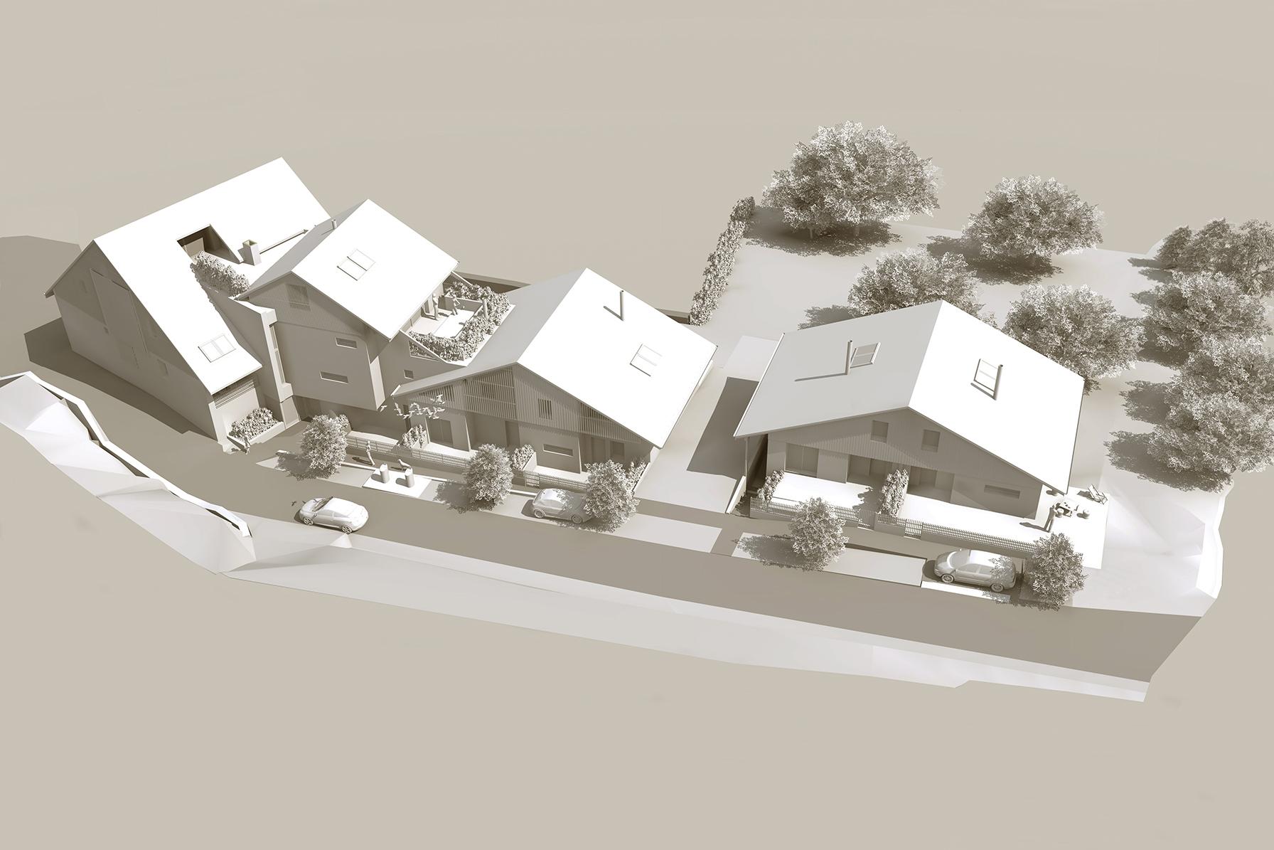 Les Meulières, Logements Collectifs à Mijouet | Architectes: Nelly GUYOT
